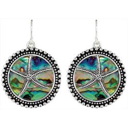 PIPER MADISON Abalone Shell Disc Drop Starfish Earrings