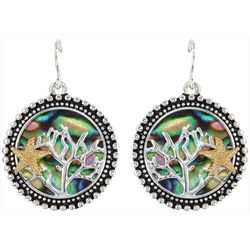 PIPER MADISON Two Tone Coastal Abalone Shell Earrings