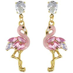 PIPER MADISON Pink Flamingo Post Top Earrings
