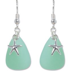 PIPER MADISON Faux Sea Glass Starfish Earrings