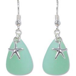PIPER MADISON Faux Sea Glass Starfish Earrings