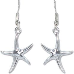 PIPER MADISON Silver Tone Starfish Earrings
