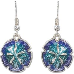 PIPER MADISON Aqua Blue Sand Dollar Drop Earrings