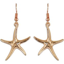 PIPER MADISON Rose Gold Tone Starfish Earrings