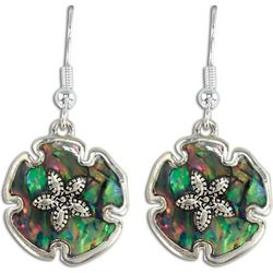 PIPER MADISON Abalone Shell Sand Dollar Drop Earrings
