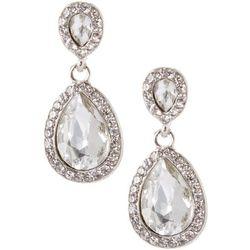 Socialize Crystal Teardrop Post Top Earrings