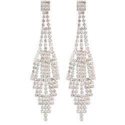 Socialize Crystal Fringe Chandelier Earrings