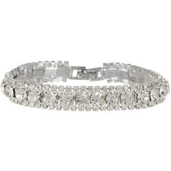 Socialize 3 Row Dazzling Rhinestone Bracelet