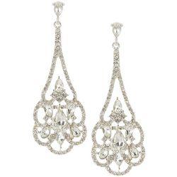 Socialize Crystal Glass Marquis Chandelier Earring