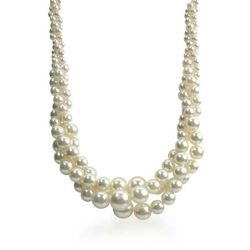 Roman Cream Faux Pearl Twisted Necklace
