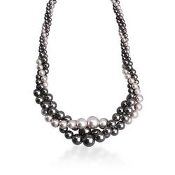 Roman Simulated Pearl Twisted Necklace