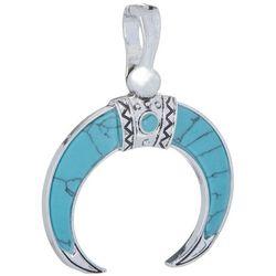 Wearable Art By Roman Cresent Horn Pendant