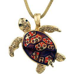Wearable Art By Roman Loggerhead Turtle Pendant Necklace
