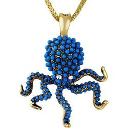 Wearable Art By Roman Octopus Pendant Necklace