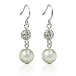Roman Faux Pearl & Crystal Drop Earrings