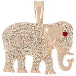 Wearable Art By Roman Rose Gold Tone Elephant Pendant