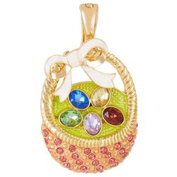 Wearable Art By Roman Easter Egg Basket Pendant