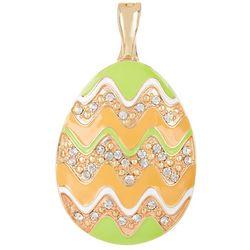 Wearable Art By Roman Enamel Easter Egg Pendant