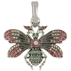 Wearable Art By Roman Pink Multi Rhinestone Bee