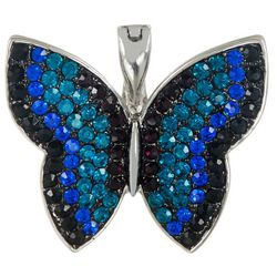 Wearable Art By Roman Rhinestone Butterfly Pendant