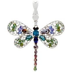 Wearable Art By Roman Rhinestone Dragonfly Pendant