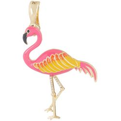Wearable Art By Roman Pink Flamingo Pendant