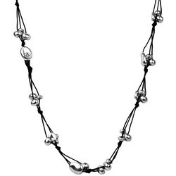 Bella UNO Triple Cord & Bead Knotted Long Necklace