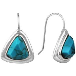 Bella UNO Turquoise Blue Triangle Earrings