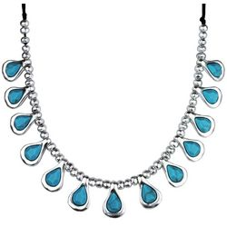 Bella UNO Multi Turquoise Blue Teardrop Front Necklace