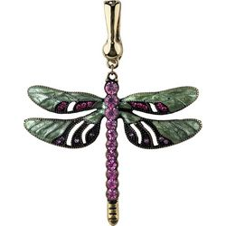Wearable Art By Roman Pink & Green Dragonfly Pendant
