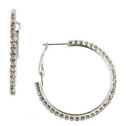 Roman Simulated Crystal Hoop Earrings