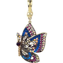 Wearable Art By Roman Pink Multi Butterfly Pendant