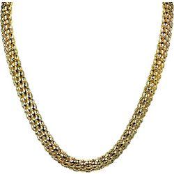 Wearable Art By Roman Gold Tone Flat Popcorn