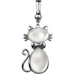 Wearable Art By Roman White Cat Pendant