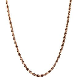 Wearable Art By Roman Rose Gold Tone Rope Chain Necklace