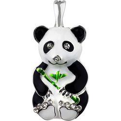 Wearable Art By Roman Enamel Panda Pendant