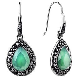 Roman Jade Green Teardrop Earrings