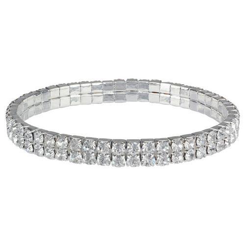 ef4c24b6565 Roman Two Row Pave Crystal Stretch Bracelet | Bealls Florida