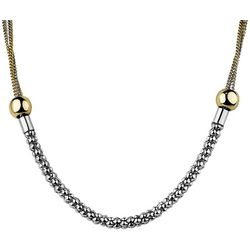 Wearable Art By Roman Two Tone Round Front Necklace