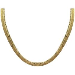 Wearable Art By Roman Flat Cord Gold Tone Necklace