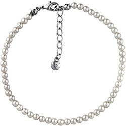 Roman Cream White Faux Pearl Anklet