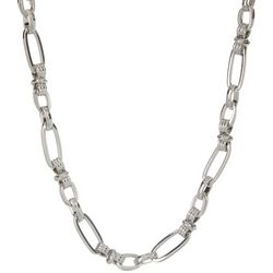 Wearable Art Silver Tone Chunky Link Necklace