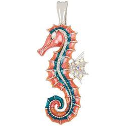 Wearable Art Pink Multi Seahorse Pendant