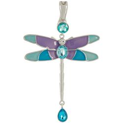 Wearable Art By Roman Purple Multi Dragonfly Pendant