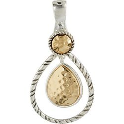 Wearable Art By Roman Hammered Teardrop Pendant