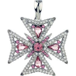 Wearable Art By Roman Maltese Cross Pendant