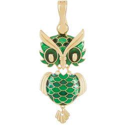Wearable Art By Roman Green Owl Pendant