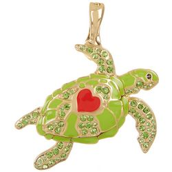 Wearable Art By Roman Heart Sea Turtle Pendant