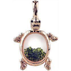 Wearable Art By Roman Rose Gold Turtle Pendant