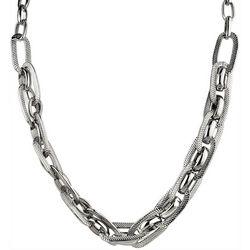 Wearable Art By Roman Silver Tone Multi Link Necklace